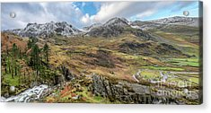 Snowcapped Snowdonia Acrylic Print by Adrian Evans