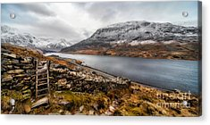 Snowcapped Valley Acrylic Print by Adrian Evans