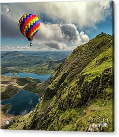 Snowdon Hot Air Balloon Acrylic Print