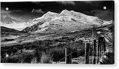 Snowdon Winter Acrylic Print by Adrian Evans