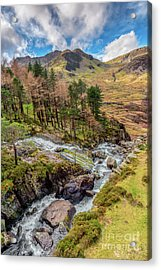 Snowdonia Landscape Winter Acrylic Print by Adrian Evans