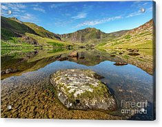 Acrylic Print featuring the photograph Snowdonia Mountain Reflections by Adrian Evans