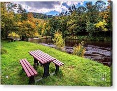 Snowdonia River Autumn Acrylic Print