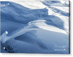 Acrylic Print featuring the photograph Snowdrift Structure by Angela DeFrias