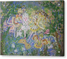 Snowdrop The Fairy And Friends Acrylic Print by Judith Desrosiers
