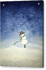 Acrylic Print featuring the painting Snowfall by Antonio Romero