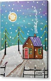 Snowfall Acrylic Print by Karla Gerard