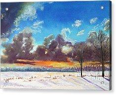 Snowfield IIi Acrylic Print by Lucinda  Hansen