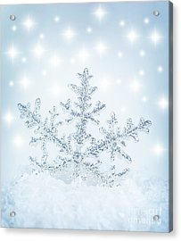 Snowflake Background Acrylic Print