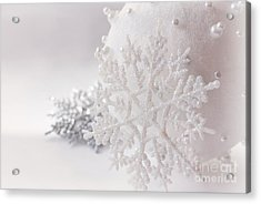 Snowflake Acrylic Print by Cindy Garber Iverson
