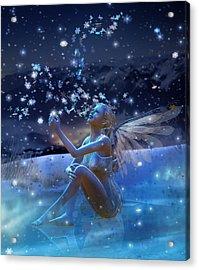 Snowflake Acrylic Print by Mary Hood