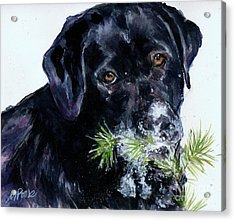 Acrylic Print featuring the painting Snowflake by Molly Poole