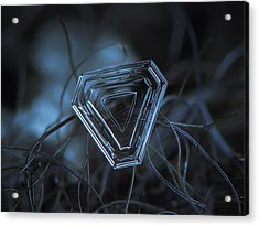 Snowflake Photo - Almost Triangle Acrylic Print