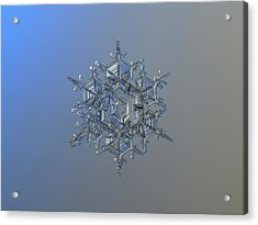 Snowflake Photo - Crystal Of Chaos And Order Acrylic Print