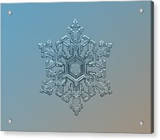 Snowflake Photo - Ornate Pattern Acrylic Print