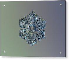 Snowflake Photo - Silver Foil Acrylic Print