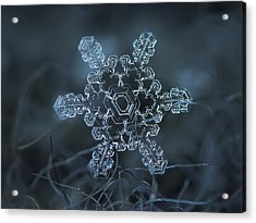 Snowflake Photo - Slight Asymmetry Acrylic Print