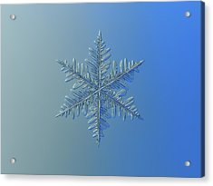 Acrylic Print featuring the photograph Snowflake Photo - Winter Is Coming by Alexey Kljatov