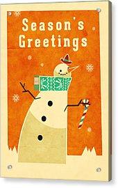 Snowman 1 Acrylic Print by Daviz Industries