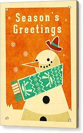 Snowman 2 Acrylic Print by Daviz Industries