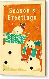 Snowman 5 Acrylic Print by Daviz Industries