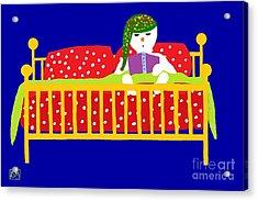 Snowman Bedtime Acrylic Print