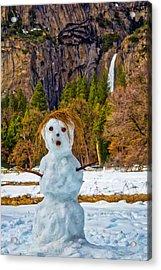 Snowman Yosemite Valley Acrylic Print