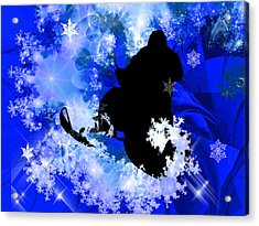 Snowmobiling In The Avalanche  Acrylic Print by Elaine Plesser