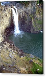 Snowqualmie Falls 2 Acrylic Print by Steve Ohlsen