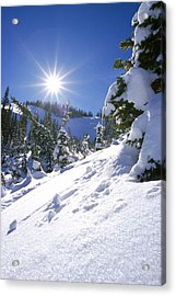 Snowscape With Bright Sun Acrylic Print by American School