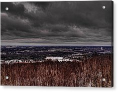 Snowstorm Clouds Over Rib Mountain State Park Acrylic Print