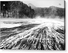 Acrylic Print featuring the photograph Snowstorm by Hayato Matsumoto