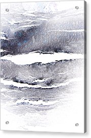 Acrylic Print featuring the photograph Snowstorm In The High Country by Lenore Senior