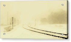 Snowstorm In The Yard S Acrylic Print