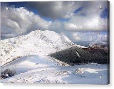 snowy Anboto from Urkiolamendi at winter Acrylic Print