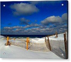 Snowy Beach  Acrylic Print