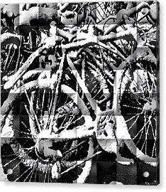 Snowy Bike Acrylic Print