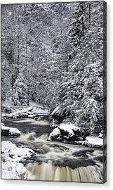 Snowy Blackwater Acrylic Print