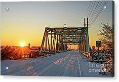Snowy Bridge Acrylic Print