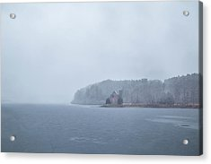 Acrylic Print featuring the photograph Snowy Church by Brian Hale