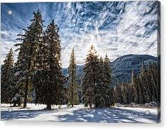 Snowy Clouds Acrylic Print