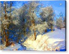 Snowy Creek Etc Acrylic Print by Julie Lueders