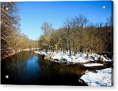 Acrylic Print featuring the photograph Snowy Creek Morning by William Jobes