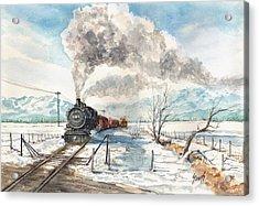 Snowy Crossing Acrylic Print