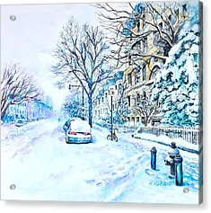 Snowy Day Brooklyn  Acrylic Print
