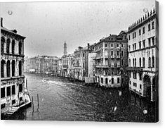 Snowy Day In Venice Acrylic Print