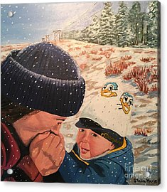 Snowy Day With My Dad Acrylic Print