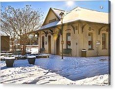Snowy Depot Acrylic Print
