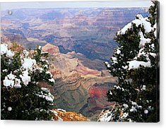 Snowy Dropoff - Grand Canyon Acrylic Print