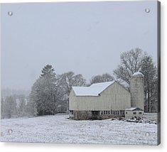 Winter White Farm Acrylic Print